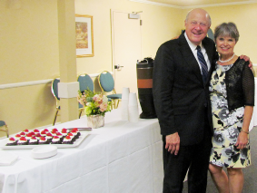 Reception in honor of Sam and Deborah Rotman