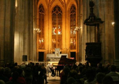 Performing at the Cathedral in St. Etienne, France