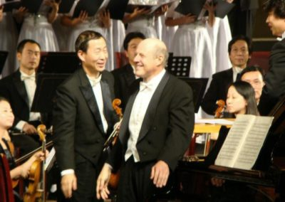 Ovation following the Beethoven concert in Changsha, China